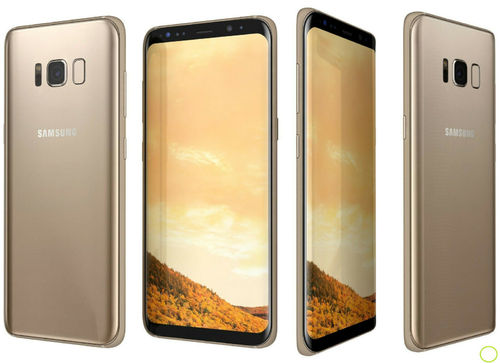 "Samsung Galaxy S8 G950A Gold - 5,8"", 64GB, mit Wireless Charger"