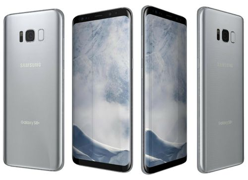 "Samsung Galaxy S8 G950A Silber - 5,8"", 64GB, mit Wireless Charger"